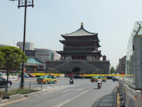 西安の鐘楼(2011年4月)