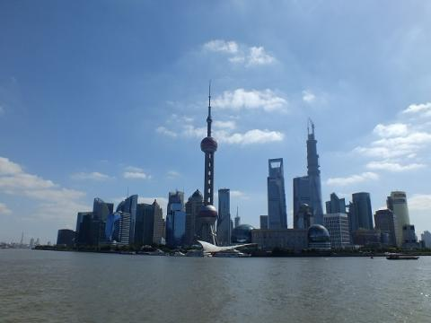 上海の浦東地区