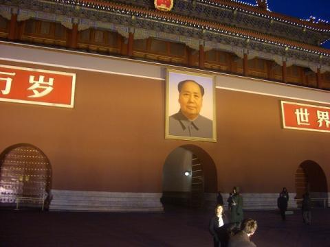 天安門の毛沢東