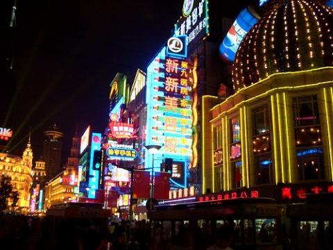 上海の南京路(2005年10月)